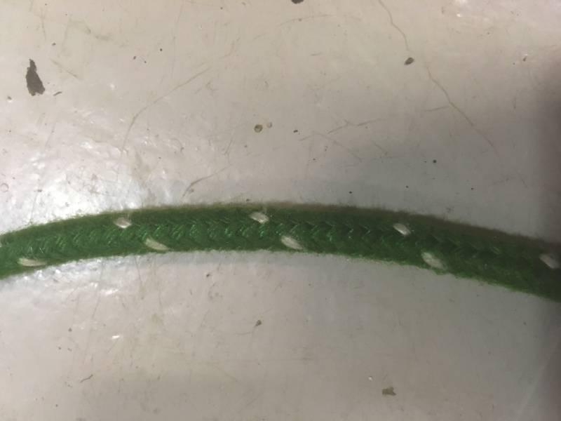 Robline - Dekksline/tau i fargen grønt - 6 mm