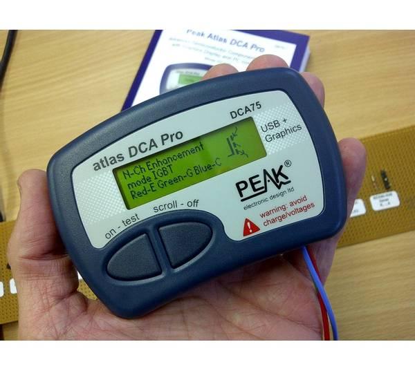 DCA75 Komponenttester for halvledere, m/USB