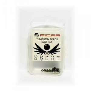 Bilde av Picar Tungsten Slotted Beads Black Nickel 2.4