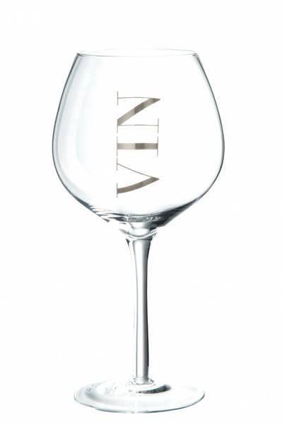 Vin glass rødvin transp/silv