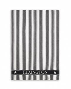 Bilde av Lexington kjøkkenhånkle Twill Waffle svart/hvit