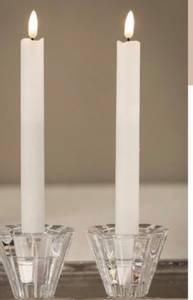 Bilde av Led kronelys hvit H:24cm 2 stk