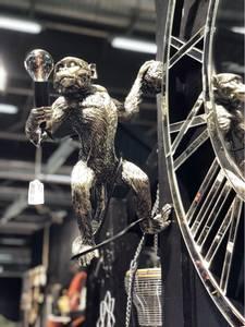 Bilde av Ape vegglampe silver