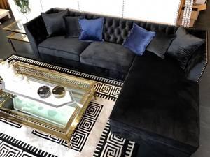 Bilde av Manhattan sofa corner svart velur