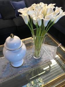 Bilde av Glassvase m/ 17 calla blomster