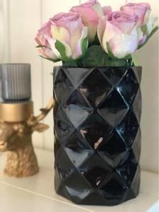 Bilde av Svart blank vase