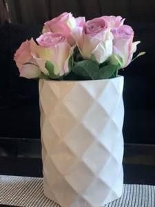 Bilde av Hvit blank vase