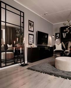 Bilde av Quebec black speil 180x90
