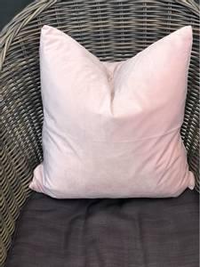 Bilde av Lyse rosa velur putetrekk 45x45