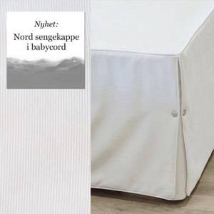 Bilde av Senge kappe strykefri 180cm offwhite