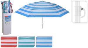 Bilde av Strand parasoll RØD/HVIT