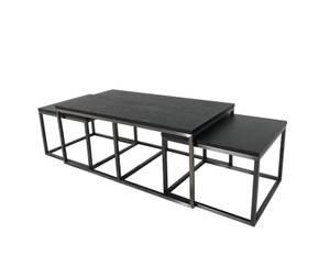 Bilde av Salongbord Oceanside sett av 3 bord sort metall