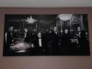 Bilde av All James Bond actors 90cm x 180cm