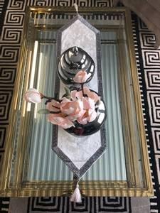 Bilde av Aten bordløper hvit 160cm