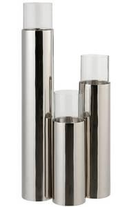 Bilde av sylinder rustfritt stål / glass Stor