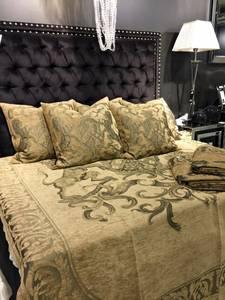 Bilde av Fiori sengeteppe Beige/gull