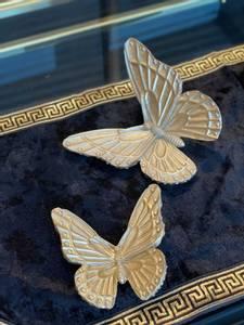 Bilde av Dekor sommerfugler gull