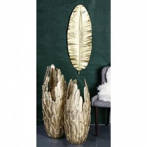 Bilde av Vase Feather gull matt Large
