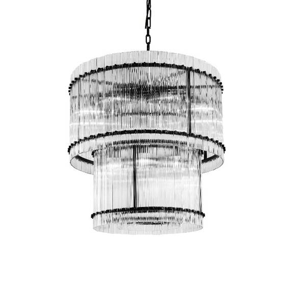 Taklampe Baltimore D88 x H70CM clear glass