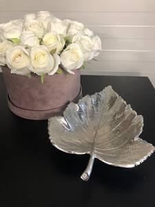 Bilde av Løvblad fat sølv