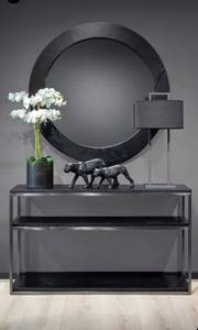 Bilde av Speil sort eike finer Ø:90cm