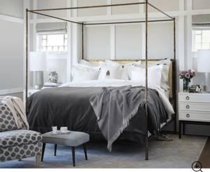 Bilde av Lexington Hotel Velvet Bedspread  mørkegrå