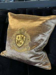 Bilde av Kingdom velur putetrekk gull/beige