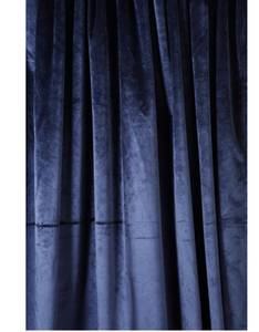 Bilde av Velur gardin marineblå 2 lengder