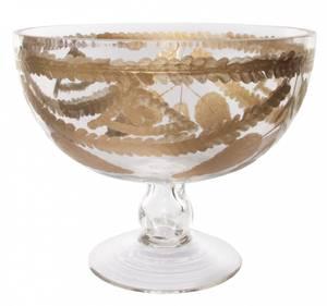 Bilde av Glass bolle gull krans design H:16,5cm