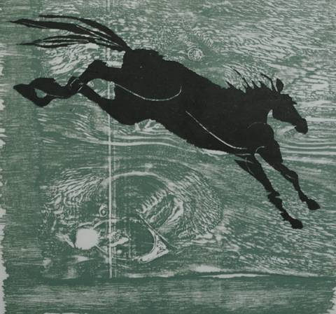 Bilde av Den svarte hesten av Gunhild Vegge og Lasse Kolsrud