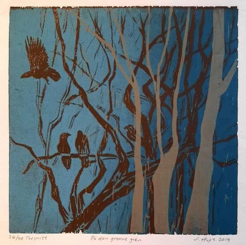 Bilde av På den grønne gren av Jane Hupe