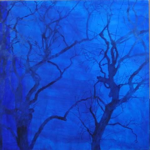 Bilde av Trekrone (blå) av Ann Lundstrøm