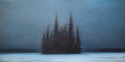 Bilde av Treklynge vinterlandskap av Christopher Rådlund