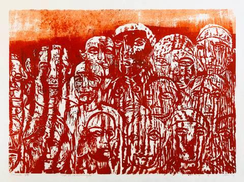 Bilde av Sol på folkemengde av Johannes B. Hansen