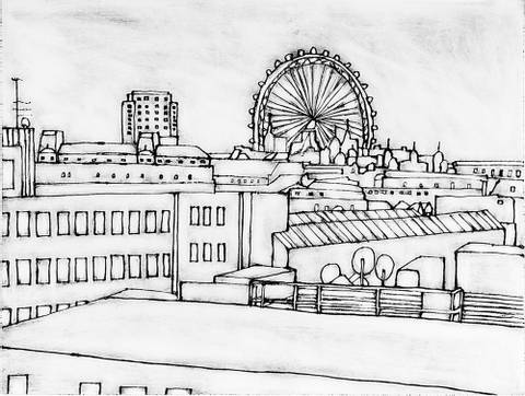 Bilde av London View nr. 10 av Anita Tjemsland