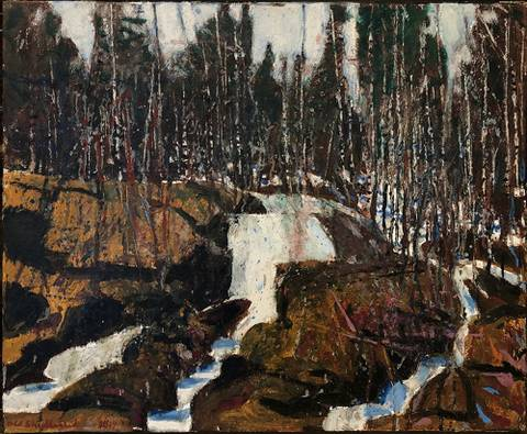 Bilde av Liten foss i Telemark av Odd Skullerud