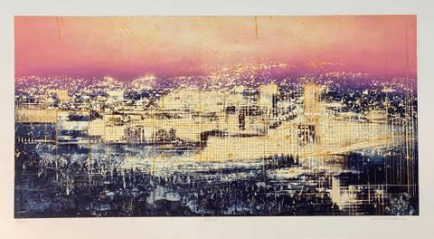 Bilde av Bylys (rosa) av Frank Brunner