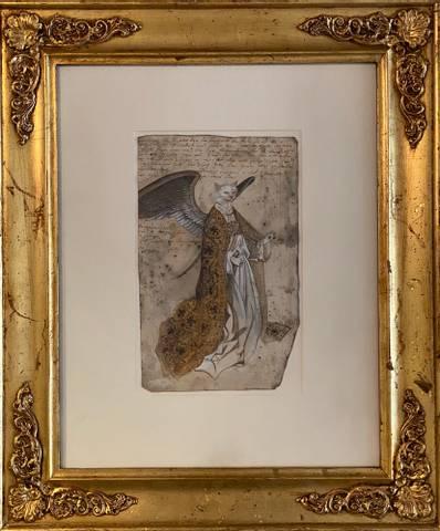 Bilde av Forstudie av engel til Den Fortabte Søn av Felix