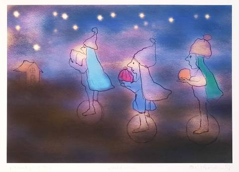 Bilde av Julebesøk av Eli Hovdenak m/ramme