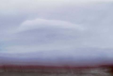 Bilde av Sky over berg av Lena Heggelund