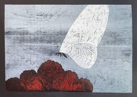 Bilde av Hymne V (sort papir) av Trine Lindheim