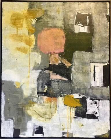 Bilde av Maleri nr. 6 av Mari Follinglo m/utstillingsramme