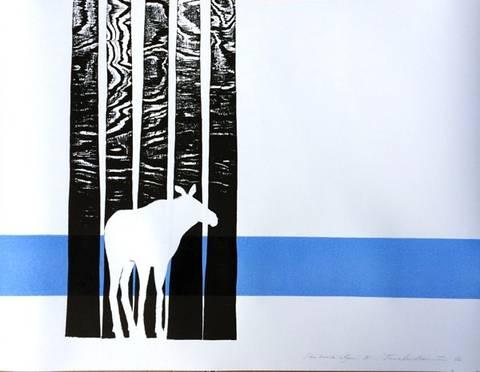 Bilde av Den hvite elgen II av Trine Lindheim