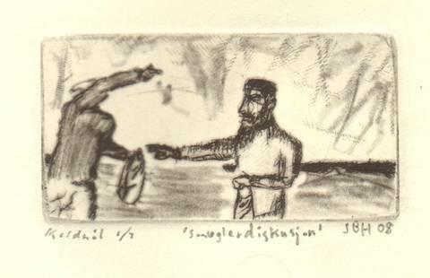 Bilde av Smuglerdiskusjon av Johannes B. Hansen