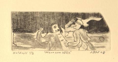 Bilde av Menn som slåss av Johannes Borgchrevink Hansen