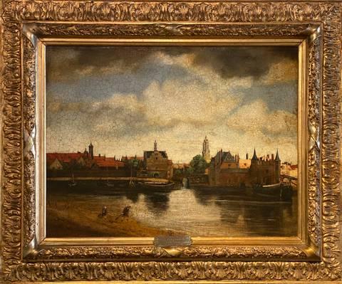 Bilde av Mudlarkere i Delft av Felix Fiigenschou m/ ramme