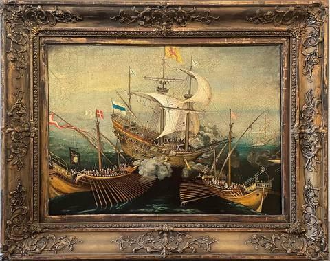 Bilde av Slaget ved Kattegat av Jan Terje Rafdal m/ ramme