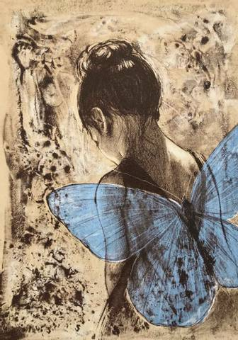 Bilde av Blå vinge av Gro Mukta Holter
