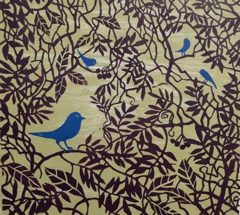 Bilde av Blåfugler av Gunhild Vegge