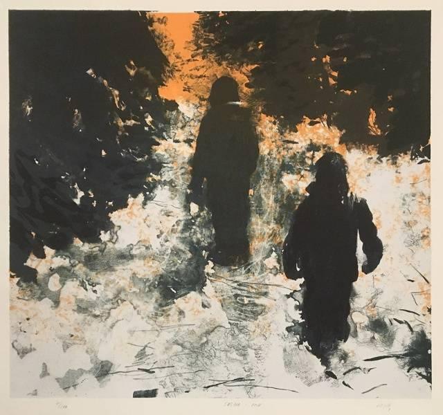 Søstre i snø av Lars Elling
